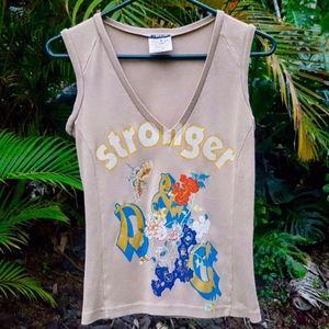 """Dolce & Gabbana """"Stronger"""" V-Neck Shirt Sz S NWOT"""